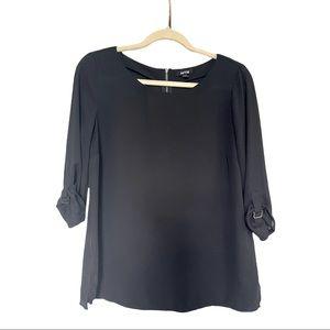 Apt 9 Black 3/4  Sleeve Top Womens Size Medium